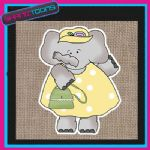 CUTE ELEPHANT DESIGN JUTE  SHOPPING LADIES GIFT BAG 003